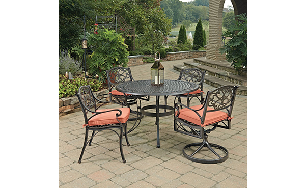 Home Styles 5 Piece Biscayne Round Outdoor Dining Set