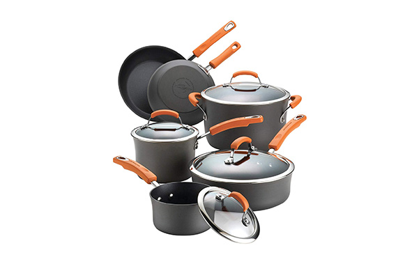 Rachael Ray Hard-Anodized Nonstick 10-Pc Cookware Set