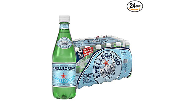 S.Pellegrino Sparkling Natural Mineral Water, 24 Count