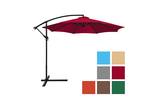 10ft Offset Hanging Outdoor Market Patio Umbrella
