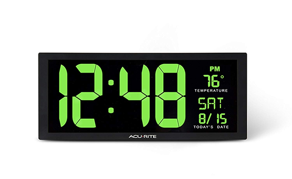 AcuRite 14.5 Large Green LED Digital Clock