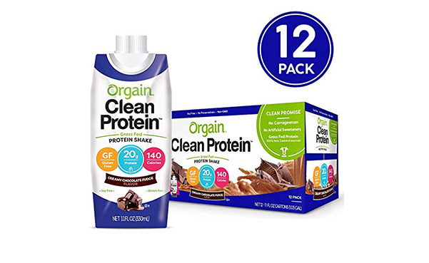 Orgain Grass Fed Clean Protein Shake, 12 Count