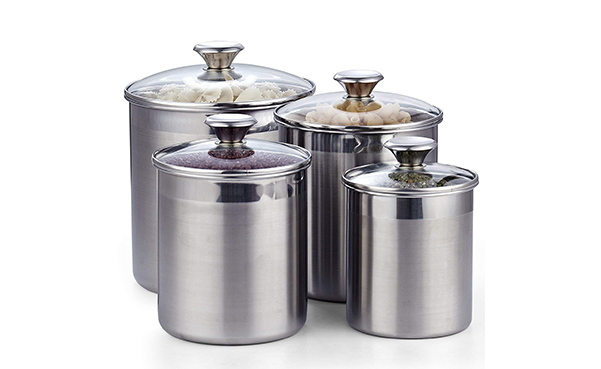 Cooks Standard 4-Piece Stainless Steel Canister Set