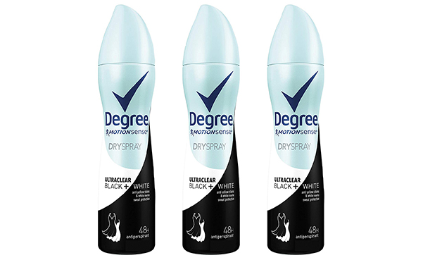 Degree UltraClear Antiperspirant Deodorant Spray, 3 count
