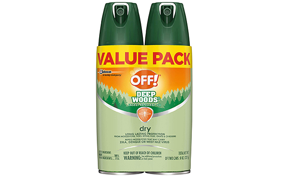 OFF! Deep Woods Insect Repellent VIII Dry, 2 Count