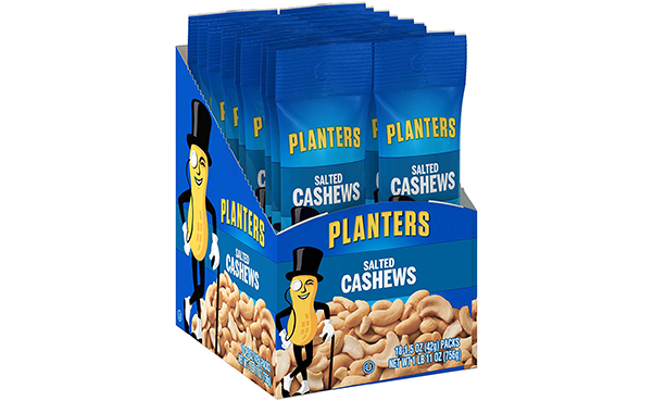 Planters Salted Cashews Single Serve Bag, Pack of 18