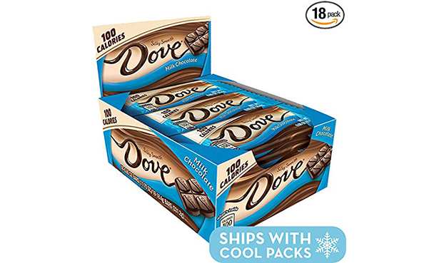 DOVE Milk Chocolate Candy Bar, 18 Count Box