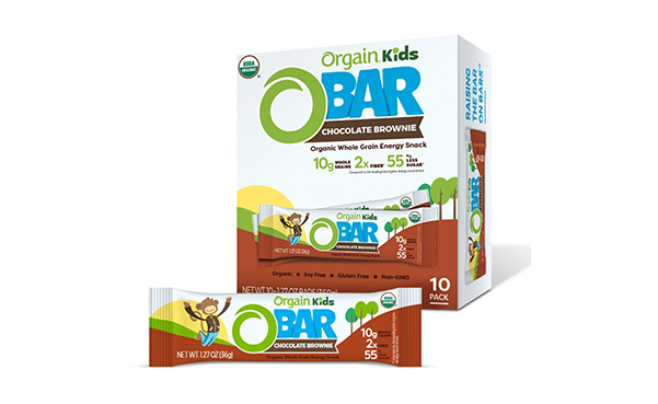 Orgain Organic Kids Energy Bar, 10 Count