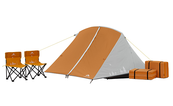Ozark Trail 3 Person Kids Camping Tent Bundle