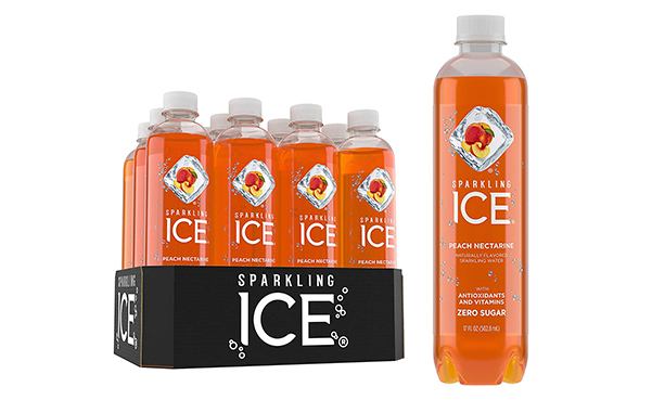 Sparkling Ice Peach Nectarine Sparkling Water, Pack of 12