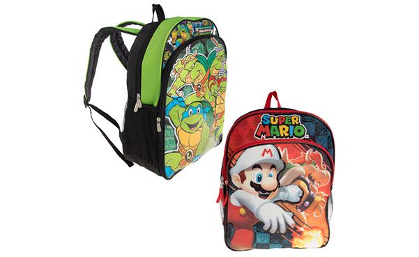 "Boys 16"" Backpack with 3D Characters"