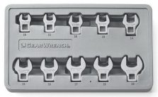 GEARWRENCH 10-Piece Metric Crowfoot Wrench Set