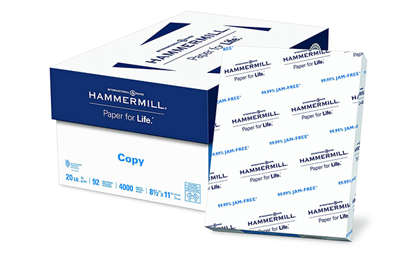Hammermill Letter Size Copy Paper, 4000 Sheets