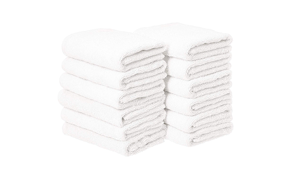 AmazonBasics Cotton Hand Towels, 12-Pack