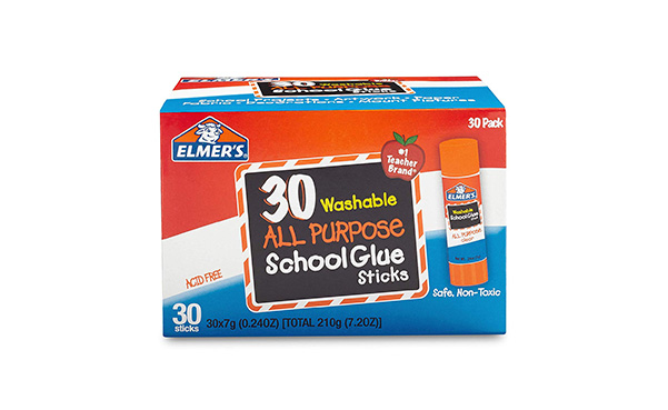 Elmer's All Purpose School Glue Sticks, Washable, 30 Pack
