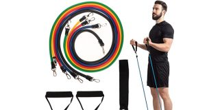 11pc Resistance Band Set - Handles, Ankle Straps & Door Anchor!