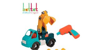 Battat Take-Apart Toy Crane Truck Building Toys
