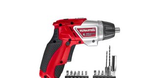 ULTRA STEEL Cordless Rechargeable Dual-Position Screwdriver