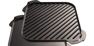 Lodge Cast Iron Single-Burner Reversible Grill Griddle