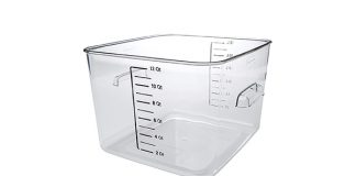 Rubbermaid Plastic Square Food Storage Container