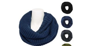 Women's Classic Knit Wide Infinity Scarf