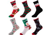 Gold Medal Women's Christmas Socks, 6-Pairs