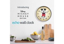 Echo Wall Clock Disney Mickey Mouse Edition