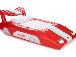 FUNBOY Inflatable Red Sports Car Pool Float