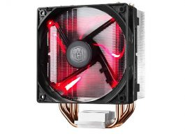 Cooler Master Hyper 212 LED w/ 4 Continuous Direct Contact Heatpipes, 120mm PWM Fan, Quiet Spin Technology , Red LEDs, Intel LGA1151, AMD AM4/Ryzen