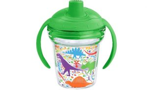 Tervis 1245688 Dino Mite All Over Sippy Cup, 6 oz, Clear