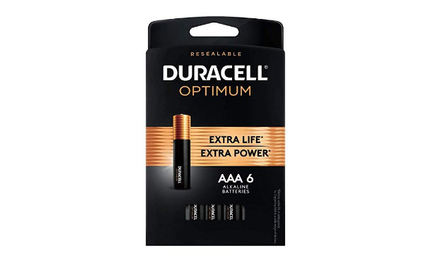 Duracell Optimum AAA Batteries | Premium Triple A 1.5V Alkaline Battery | Convenient, Resealable Package | Made in The USA | 6 Count