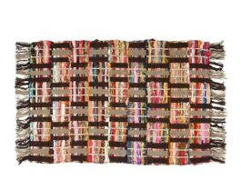 Sunrise Chindi Rug of Colorful Recycled Fabric – Many Styles