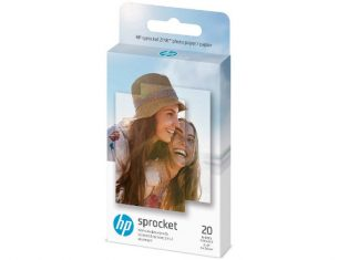 "HP 1AH01A Wireless ZINK 2x3"" Sticky-Backed Photo Paper,20 sheets,20 sheet/white"