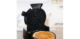 Oster Vertical Waffle Maker w/ Mess-Free Pouring Funnel & Scoop