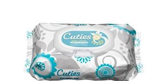 Cuties Baby Wipes, Unscented, 72 Count Soft-Pack (Pack of 12)