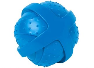 "ST Pet 532501 Rowdy Roller Ball Dog Toy, Blue, 4.5"" Diameter"